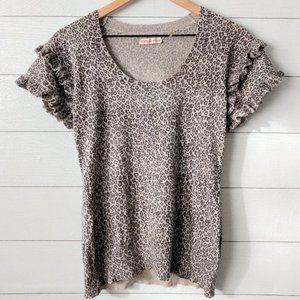 Rebecca Taylor Silk Cashmere Leopard Sweater S